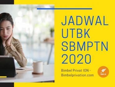 Jadwal UTBK SBMPTN 2020